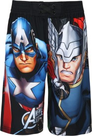 Marvel Short For Boys Casual Printed Polyester(Multicolor, Pack of 1)