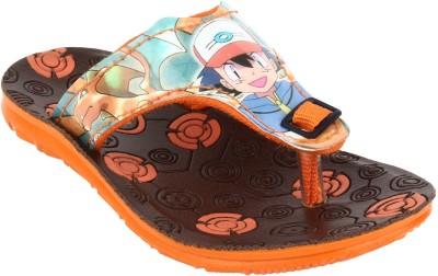 Windy Boys & Girls Slip On Slipper Flip Flop(Orange)