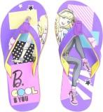 Barbie Girls Slipper Flip Flop (Purple)