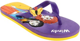 Windy Boys & Girls Slip On Slipper Flip Flop(Purple)
