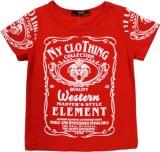 Noddy Solid Men's Round Neck Red T-Shirt
