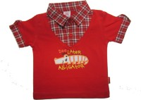 Mama & Bebe T- shirt For Boys(Red, Pack of 1)