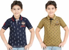 Color Kids Boys Printed Cotton(Multicolor, Pack of 2)