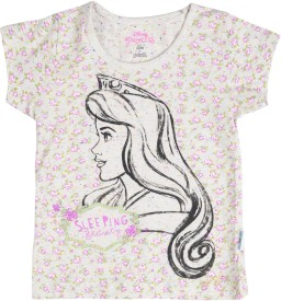 Disney Girls Printed Cotton Polyester Blend(Multicolor, Pack of 1)