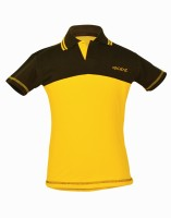Gkidz Solid Boys Polo Neck Yellow T-Shirt