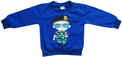 Icable T- shirt For Baby Boys(Blue, Pack of 1)