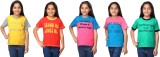 Oleva Girls Solid Cotton (Multicolor, Pa...