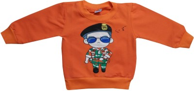 Icable T- shirt For Baby Boys(Orange, Pack of 1)