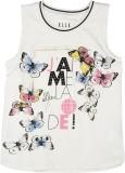 Elle Kids Girls Printed Cotton (White)