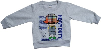 Icable T- shirt For Baby Boys(Grey, Pack of 1)