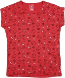 Hello Kitty Girls Printed Cotton (Red)