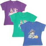 Rham Gold Girls Printed Lycra (Multicolo...