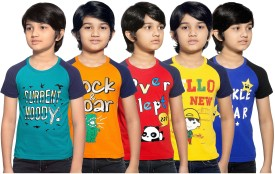 Maniac Boys Printed Cotton(Multicolor, Pack of 5)