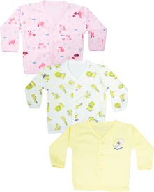 Myfaa Boys & Girls Printed Cotton(Multicolor, Pack of 3)