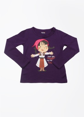 People T- shirt For Girls(Purple)