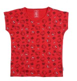 Hello Kitty Girls Printed Cotton (Red, P...