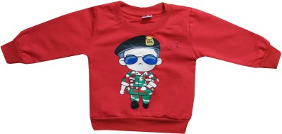 Icable T- shirt For Baby Boys(Red, Pack of 1)