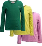 The Cranberry Club Girls Solid Cotton (M...