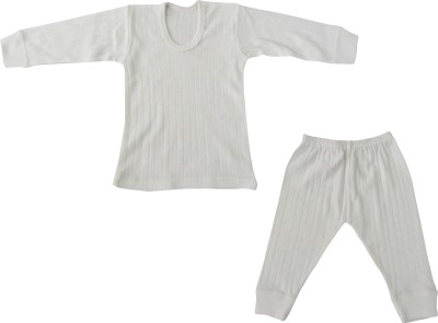 Selfcare Top - Pyjama Set For Boys(White, Pack of 2)