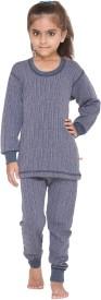 Vimal Top - Pyjama Set For Girls(Dark Blue, Pack of 2)