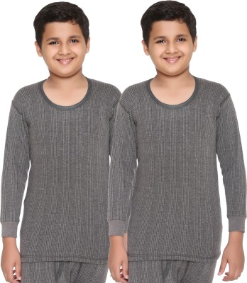 Vimal Top For Boys(Grey, Pack of 2)