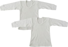 Selfcare Top For Boys(White, Pack of 2)