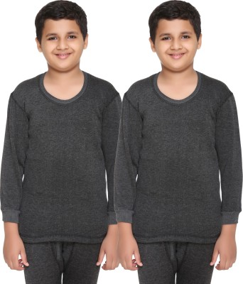 Vimal Top For Boys(Black, Pack of 2)