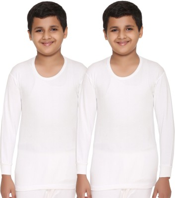 Vimal Top For Boys(White, Pack of 2)