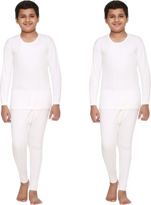 Vimal Top - Pyjama Set For Boys(White, Pack of 4)