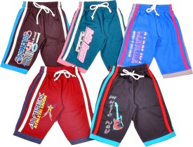 1LY GARMENTS Three Fourth For Boys(Multicolor Pack of 5)