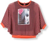 Barbie Top For Casual Polyester Top (Ora...