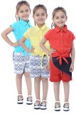 Stylestone Top For Girls Cotton Top (Red...