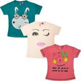 Myfaa Top For Girls Cotton Top (Multicol...