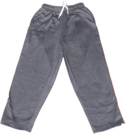 IndiWeaves Track Pant For Boys(Grey Pack of 1)