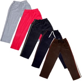 IndiStar Track Pant For Boys & Girls(Red Pack of 5)