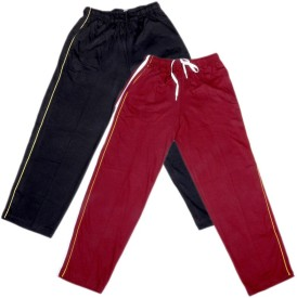 IndiWeaves Track Pant For Boys & Girls(Maroon Pack of 2)