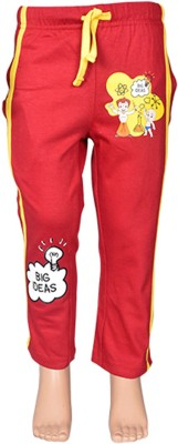 Chhota Bheem Track Pant For Boys & Girls(Red Pack of 1)