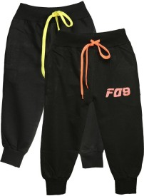 Finger's Track Pant For Boys(Black Pack of 2)