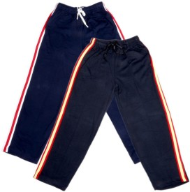 IndiWeaves Track Pant For Boys & Girls(Blue Pack of 2)