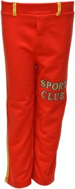 Pepito Track Pant For Boys(Red)