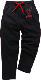 Snoby Track Pant For Girls(Black Pack of 1)