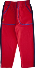 Larky Track Pant For Boys & Girls(Red Pack of 1)