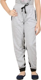 Red Ring Track Pant For Girls(Grey Pack of 1)