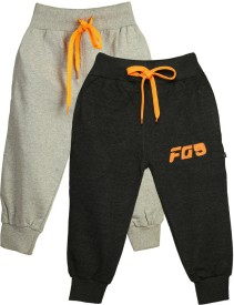 Finger's Track Pant For Boys(Grey Pack of 2)