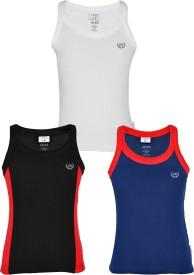 Gkidz Vest For Boys Cotton(Multicolor, Pack of 3)