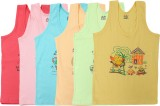 Day By Day Vest For Boys Cotton (Multico...