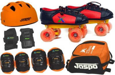 Jaspo Zoom Pro Shoe Skates Combo SIZE:5 UK (shoe skates+ helmet+knee+elbow+wrist+bag)Foot length 24.5 cms ( For age group 11-12 years) Skating Kit