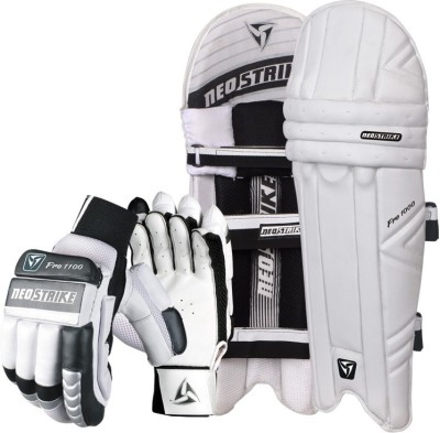 Neo strike Pro1100 glove and Pro1000 Pad for youth Cricket Kit