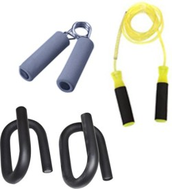 Krazy Fitness S Shape Push Up Bars With Skipping Rope & Hand Grip Gym & Fitness Kit