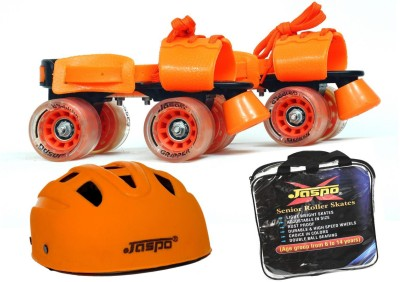 Jaspo Thunder Dual Superior Senior Skates Combo (skates+helmet+bag)suitable for age 6 to 14 years Skating Kit